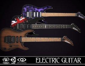 3D model realtime Electric Guitar Jackson Dinky 3 skins