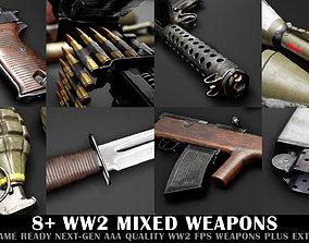 3D asset WW2 Mixed Weapon Pack