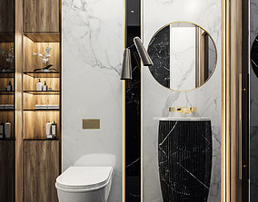3D Guest Bathroom in Luxury style