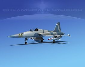 3D model Northrop F-5E Tiger V10 Navy