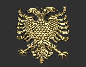 3D print model Emblem of the nation Albania The 2