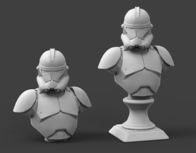 Clone galaxy Trooper P2 Bust Fan Art 3D printable model