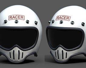 Helmet scifi fantasy pilot military racer bike 3D asset