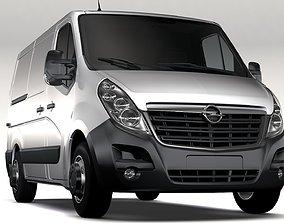 3D model Opel Movano L1H1 Van 2016
