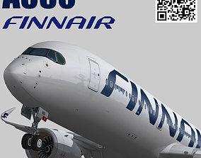 3D asset Airbus A350-900 XWB Finnair OH-LWA