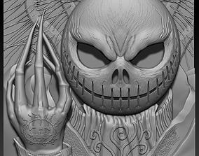 3d STL model for CNC hand skull Halloween