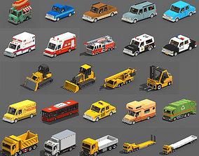 3D asset Voxel Vehicles Pack 24 Vehicles