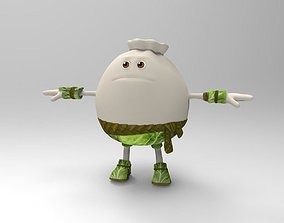 3D asset game-ready Funny dumpling for your game