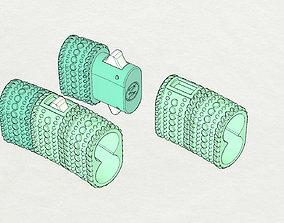 Lock bracelet 3D print model
