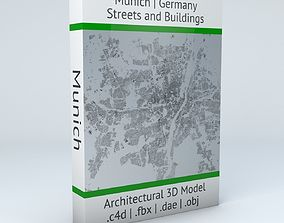 3D model Munich Streets and Buildings