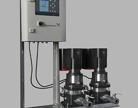 3D Water pump Grundfos CRE X2