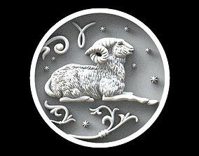 3D printable model Aries astrology sign pendant