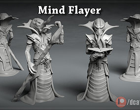 Mind Flayer - 3D printable character - 2 Poses