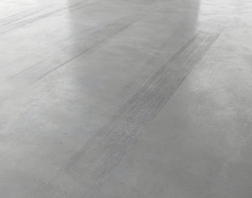 Parking Concrete Floor 3D