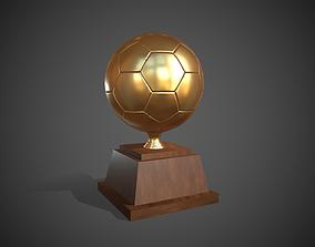 3D asset Trophy Golden Ball