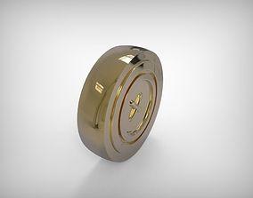 3D printable model Jewelry Golden Part For Ring Earrings