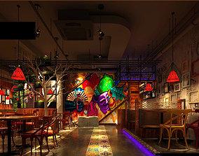 3D Light Restaurant teahouse cafe drinks clubhouse 261
