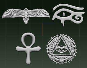 egyptian symbol 3D
