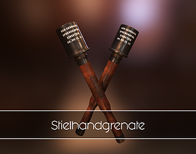 Stielhandgrenate 3D model