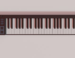 3D asset low-poly MIDI Keyboard