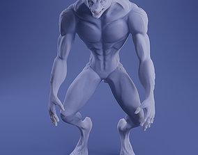 horror Werefox 3D Print Model