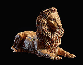 The lying Bronze Lion Sculpture 3d print model sculpture