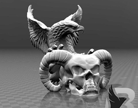 Sculpting Pendant 3D printable model animal-skeleton
