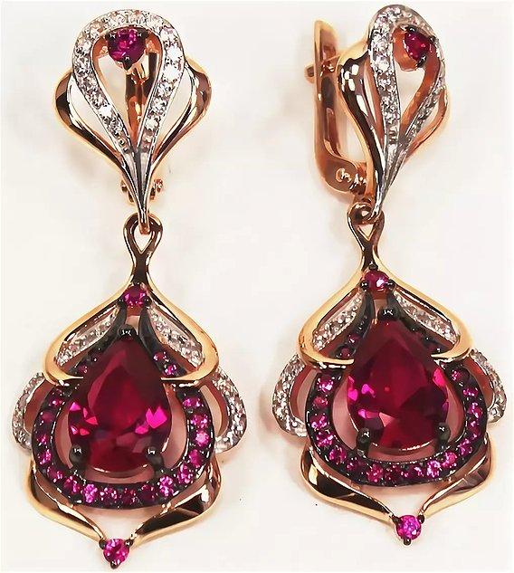 earring ruby