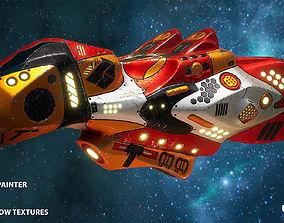 Sci-fi spaceship r2qf8 3D asset