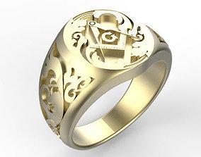 Gents Freemasons Ring 3D printable model