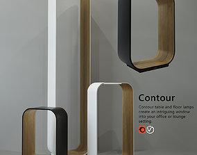 Ttable and floor lamp Haworth Contour Pablo 3D