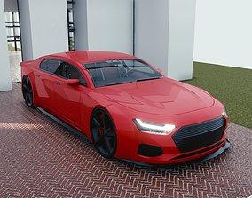 3D model BLENDER EEVEE Brandless Extended Wheelbase 2