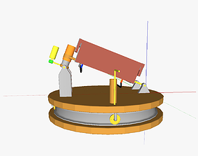 3D model AT solar thermal collector
