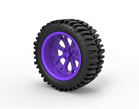 Diecast offroad wheel for lifted trucks 3D print model