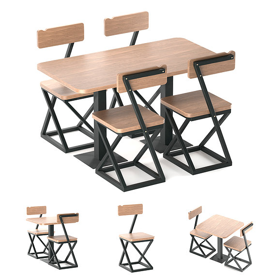 Wooden table and chair - EVOS