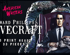 H P LOVECRAFT FAN ART STATUE 3D PRINTABLE