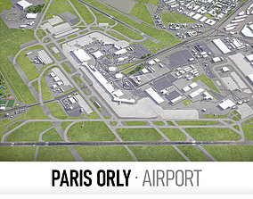 3D asset Paris Orly Airport - ORY