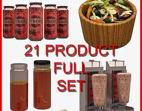 3D Food and Drink Set 002 21 Product