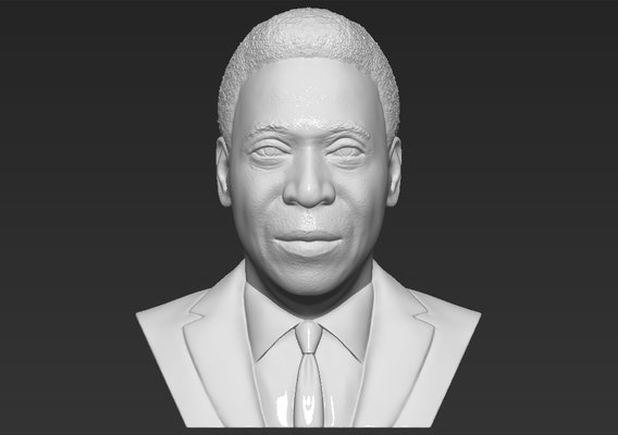 Pele bust for 3D printing