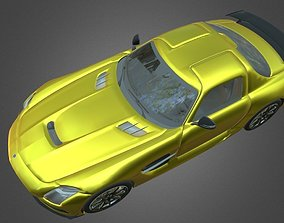 3D asset Mercedes SLS AMG