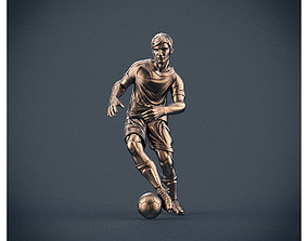 Soccer player 3D printable model