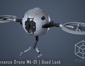 3D Maintenance Drone Mk1 Used Look