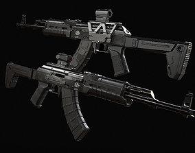 Ak 47 game ready 3D asset realtime PBR