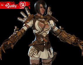 Steampunk girl 3D model
