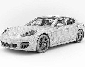 White Porsche Panamera 3D