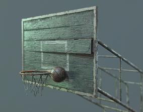 3D model PBR Basketball Outdoor Backboard