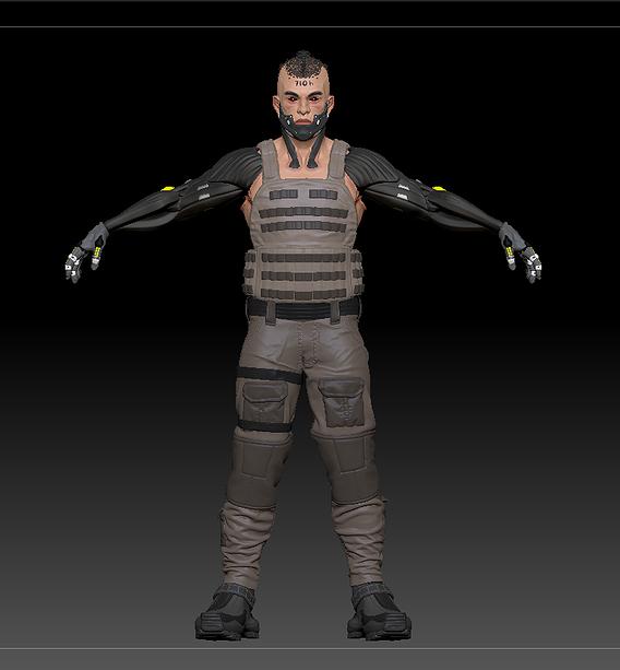 Sci fi killer, modified man