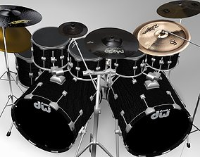 3D Drum set eevee