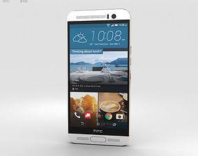 HTC One M9 Plus Silver Gold 3D model