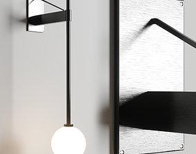 Bastion Wall Lamp 3D model realtime